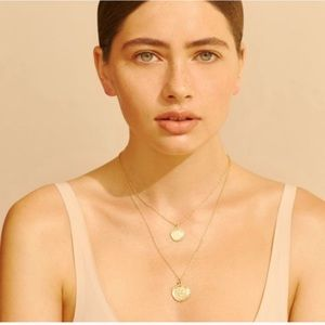 Amber Sceats l Double Coin Layered Necklace